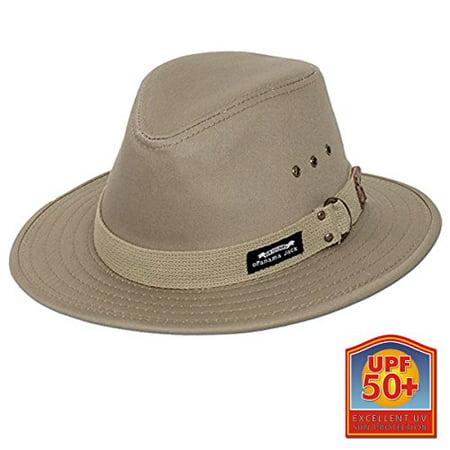 Canvas Safari Hat (Panama Jack Men's Original Canvas Safari Sun Hat, 2 1/2