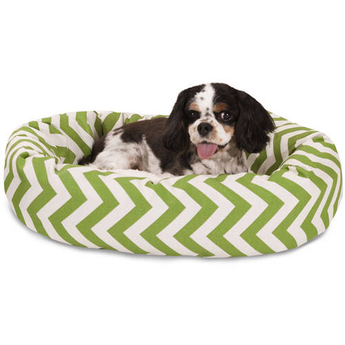 "Majestic Pet 24"" Chevron Sherpa Bagel Bed"