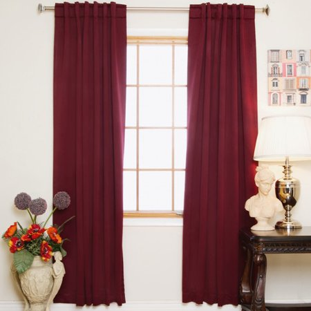 Red Barrel Studio Visconti Solid Blackout Thermal Rod Pocket Curtain Panels (Set of