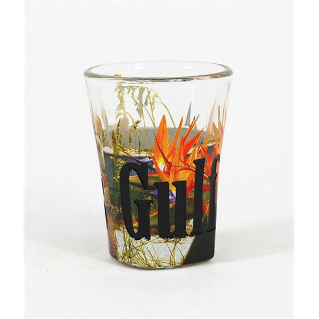 Americaware SGGFS01 Gulf Shores Full Color & Etched Shot Glass by