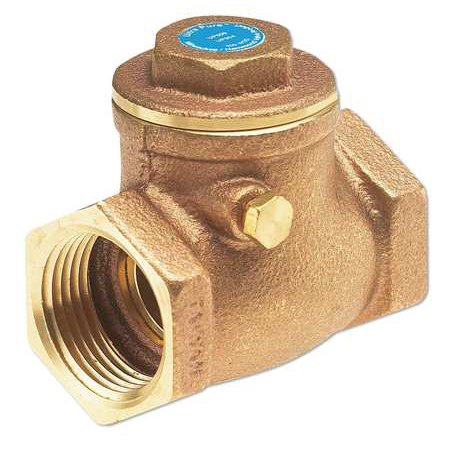 Bronze Swing Check Valve (MILWAUKEE VALVE Low Lead Swing Check Valve,Bronze,3/4 UP509)