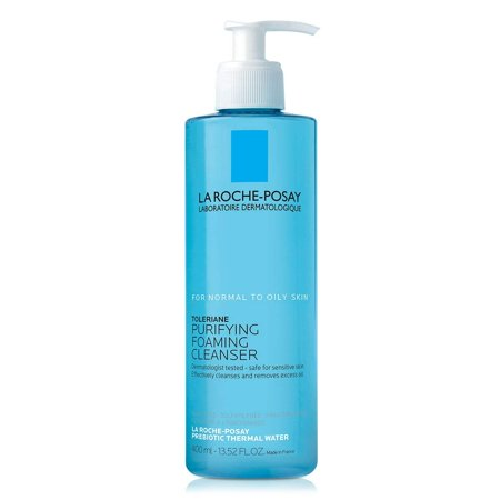 La Roche-Posay Toleriane Face Wash Cleanser, Purifying Foaming Cleanser for Normal Oily & Sensitive Skin 13.5 Fl Oz