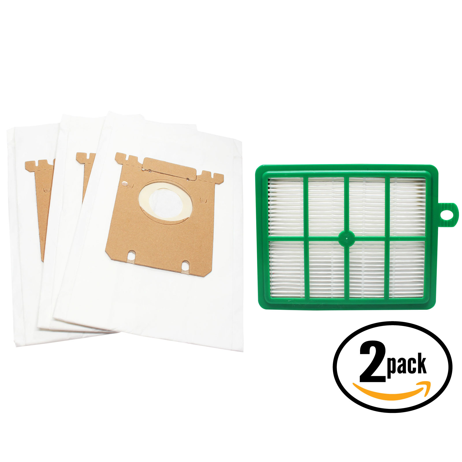 6 Replacement Electrolux EL6988E Oxygen Vacuum Bags & 2 Filter - Compatible Electrolux S-Bag Vacuum Bag & EL012B Filter - image 4 of 4