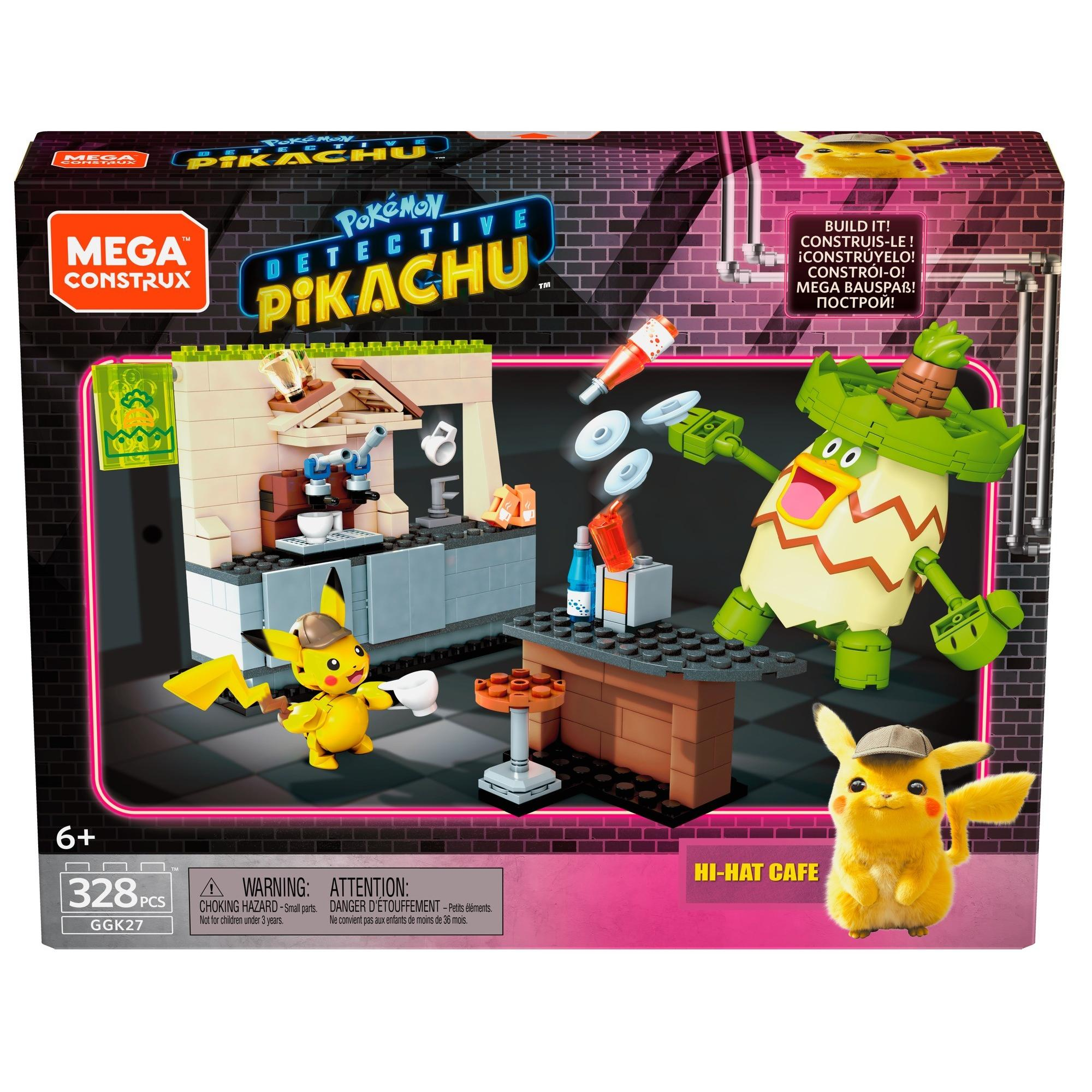Mega Construx Pokemon Detective Pikachu Hi Hat Cafe Construction
