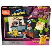 Mega Construx Pokemon Detective Pikachu Hi-hat Café Construction Set with character figures, Building Toys for Kids (328 Pieces)