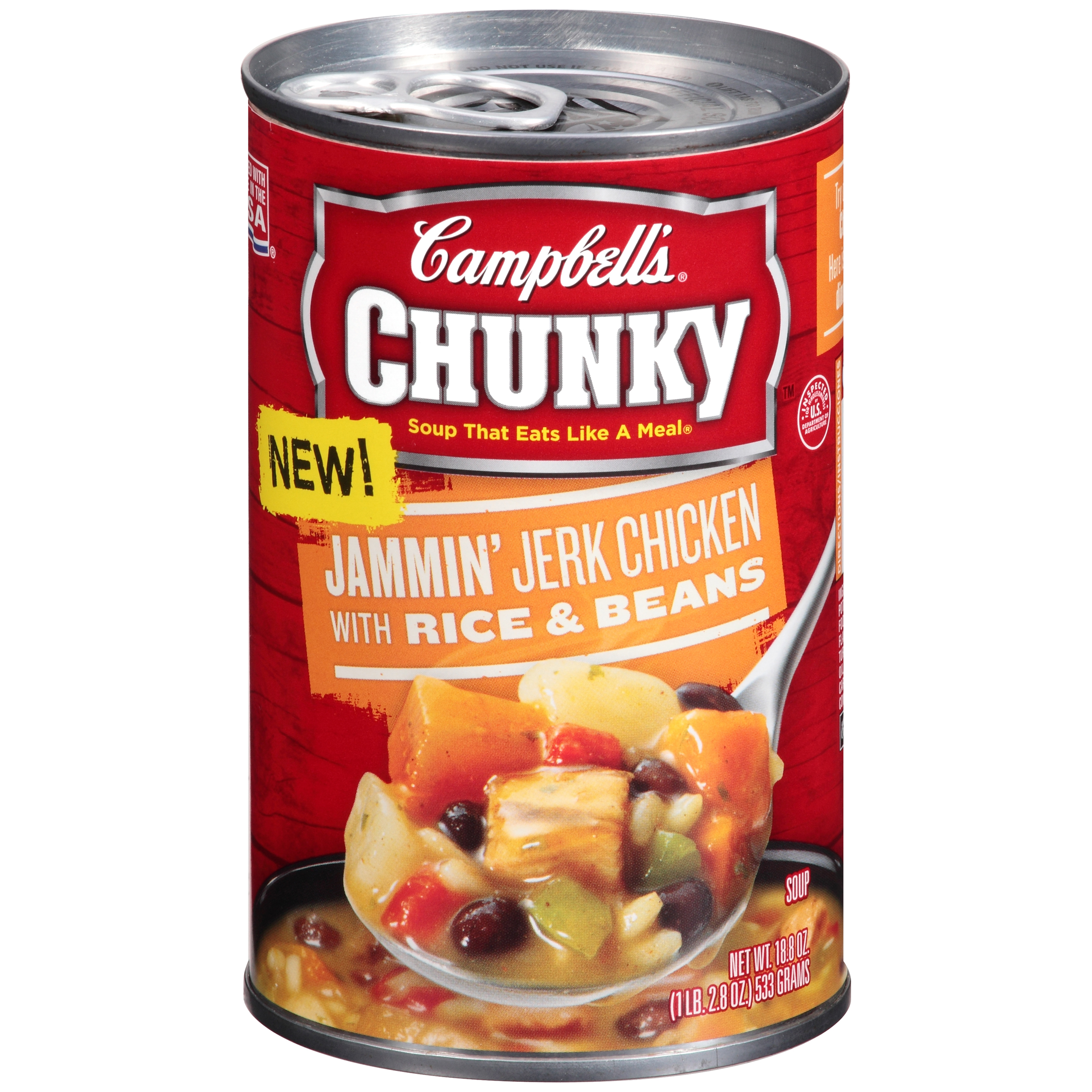 Campbell's Chunky Jammin' Jerk Chicken with Rice & Beans Soup 18.8oz