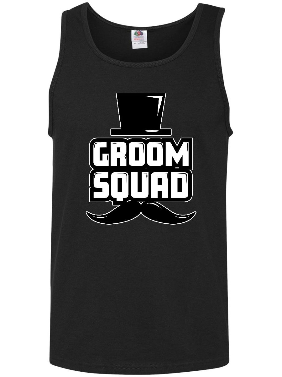 Groom Squad with Hat and Mustache Men's Tank Top