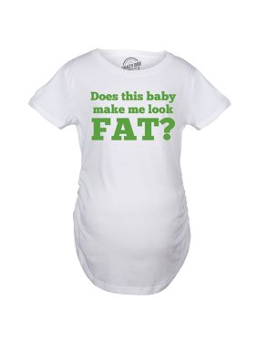 3f44ba8ad5ad7 Product Image Maternity Does This Baby Make Me Look Fat Funny Pregnancy T  shirt
