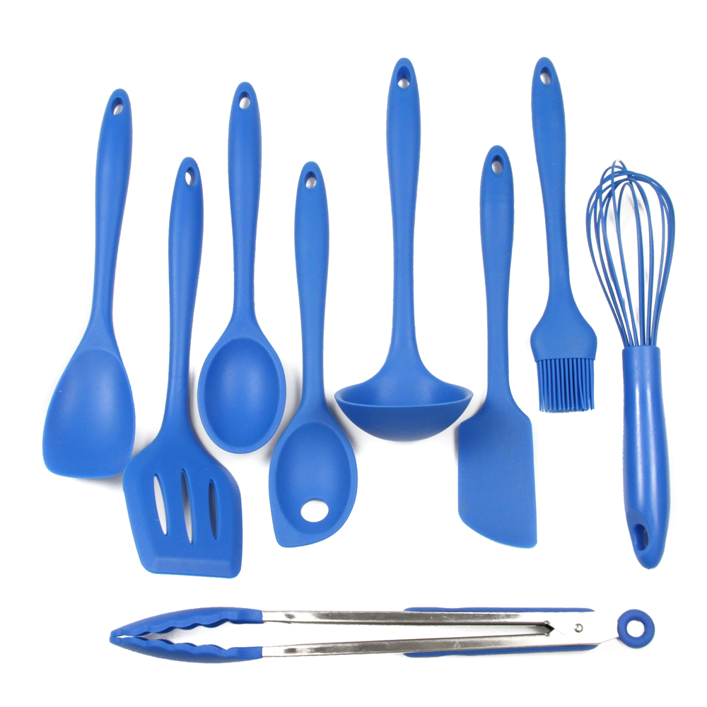 Chef Craft Silicone Tool Set (9 Pieces), Blue