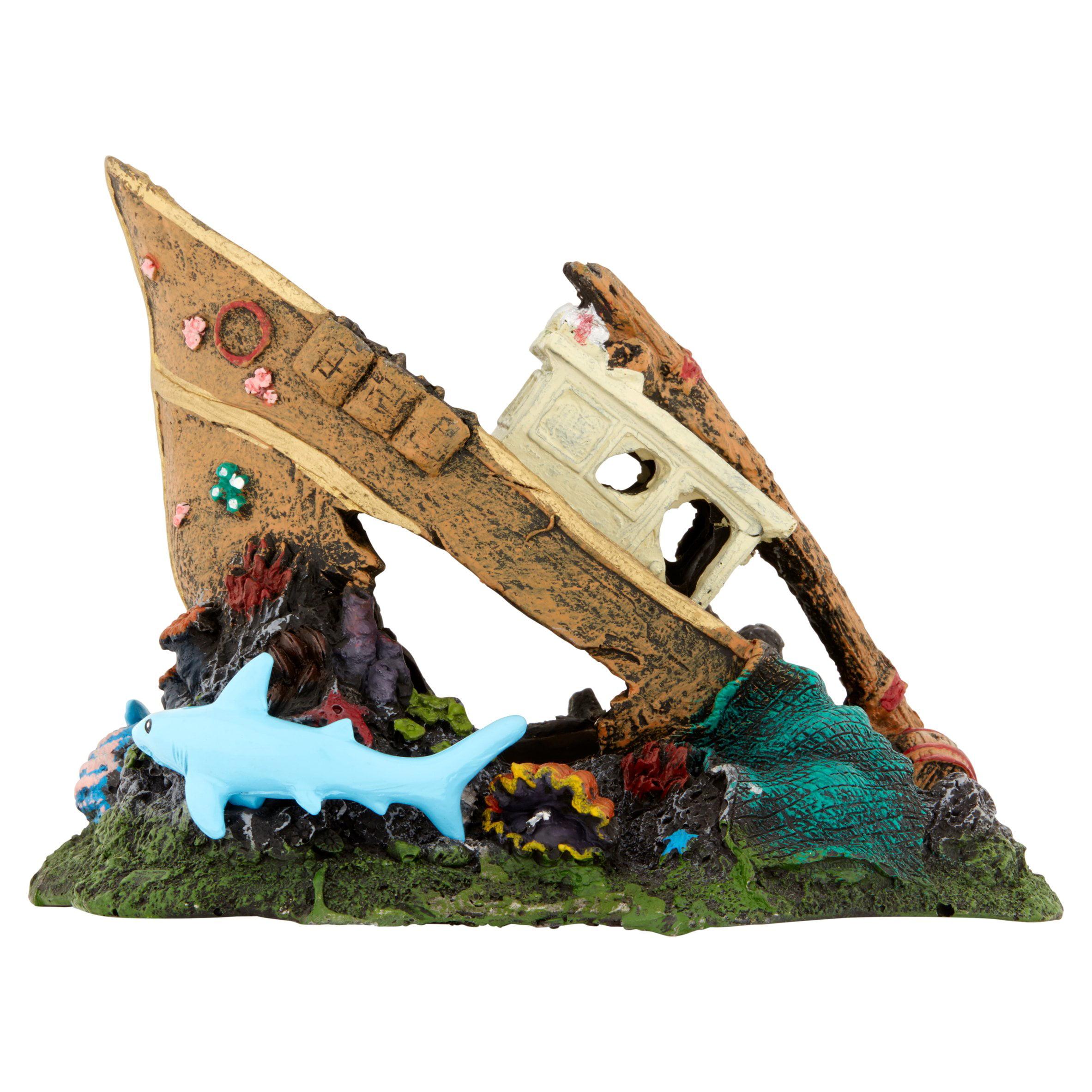 Aqua Culture Large Ship or Coral Reef Aquarium Ornament, Assorted Item May Vary by Wal-Mart Stores, Inc.