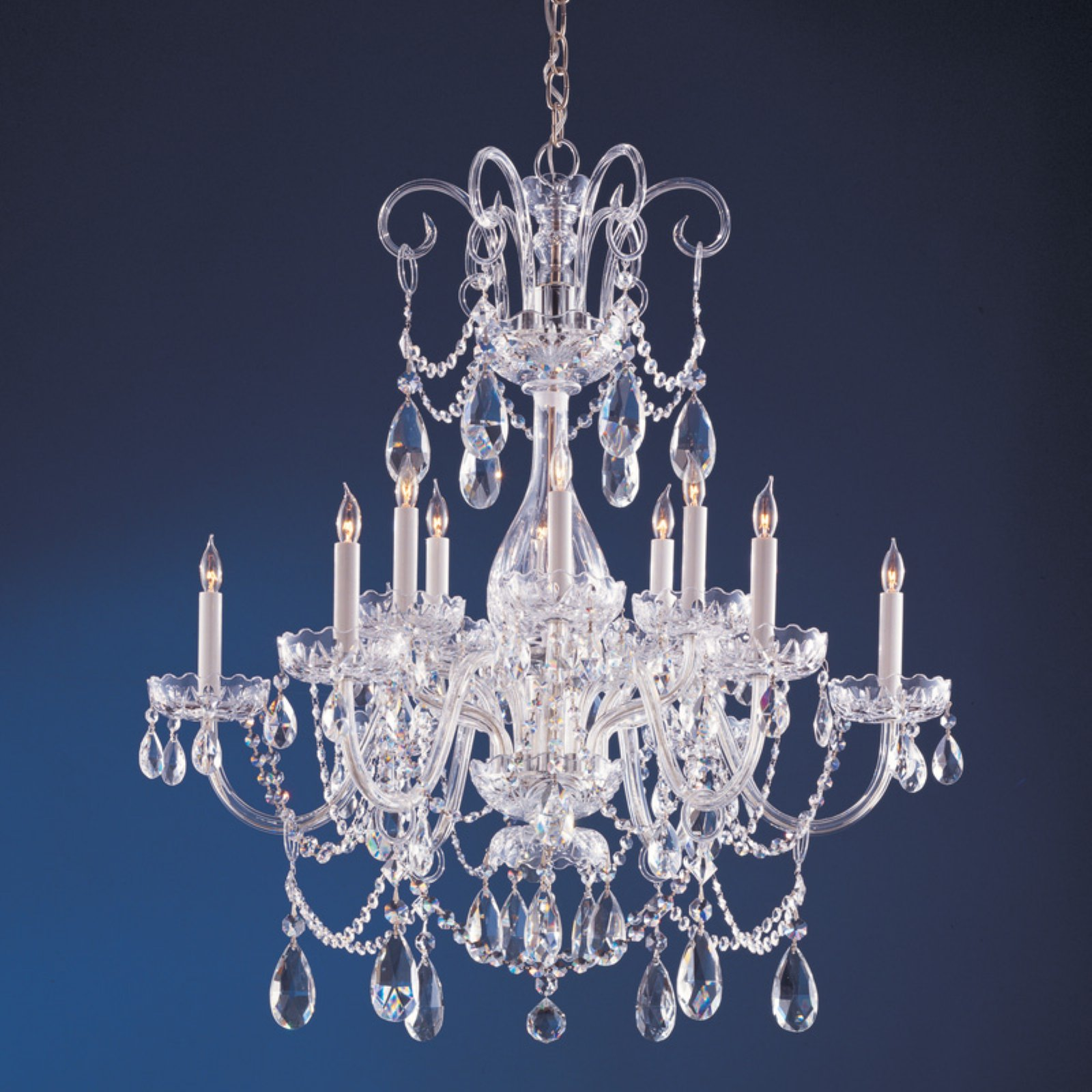 Crystorama 1035-CH-CL-SAQ Traditional Swarovski Spectra Crystal Chandelier 32W in. by Crystorama