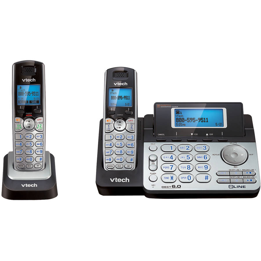 Vtech DECT 6.0 2 Line Cordless Phone with Answering and Additional Handset by VTech