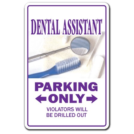 Dental Assistant [3 Pack] of Vinyl Decal Stickers | Indoor/Outdoor | Funny decoration for Laptop, Car, Garage , Bedroom, Offices | SignMission