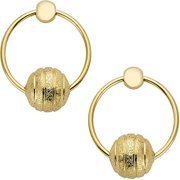 18kt Gold-Plated Ball And Ring Satin Dangle Earrings