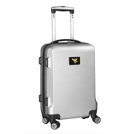 West Virginia Mountaineers 21u0022 8-Wheel Hardcase Spinner Carry-On - Silver