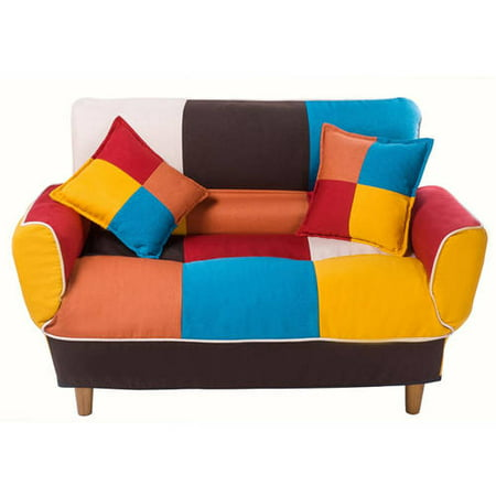 Merax Contemporary Multi-Color Split Back Futon Sofa ()