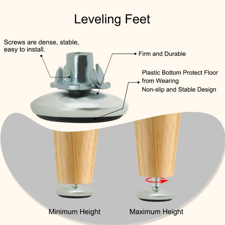 M6 x 10 x 30mm Leveling Feet Adjustable Leveler Protector for Chair Leg 8pcs - image 4 of 8
