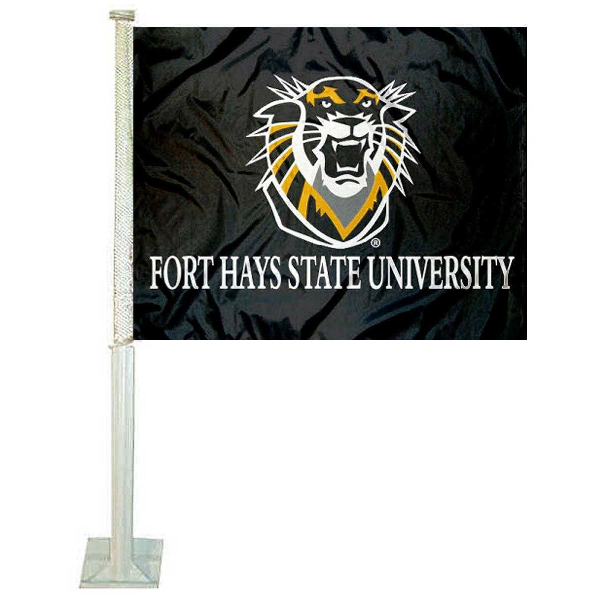 "Fort Hays State University 12"" x 15"" Car Flag"