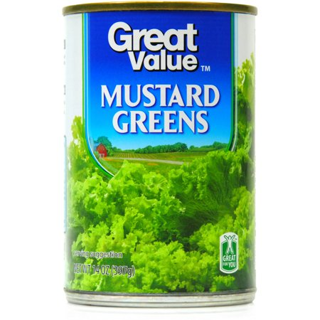 - Great Value Mustard Greens, 14 Oz