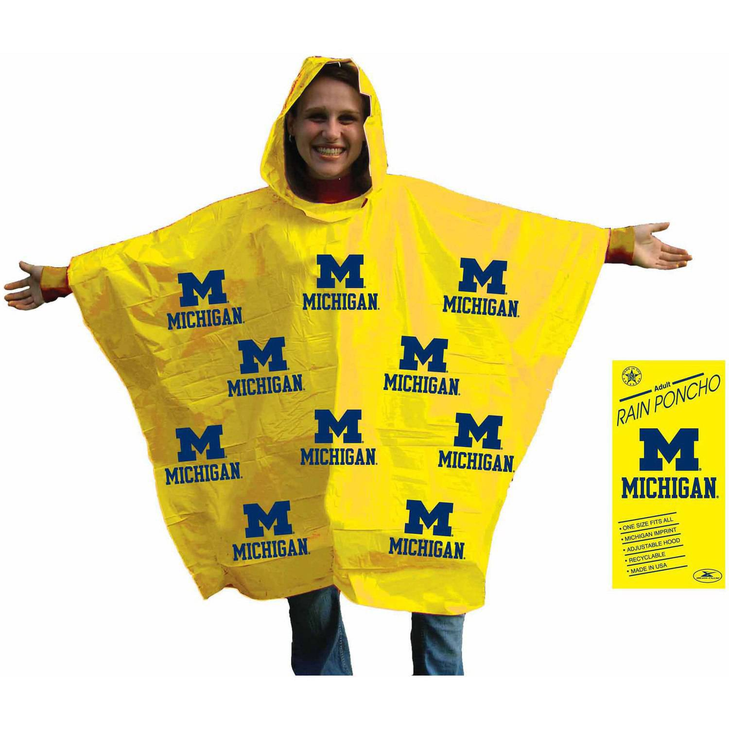 NCAA Michigan Stadium Poncho
