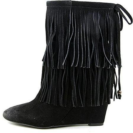 Ralph Lauren Denim   Supply Womens Donata Fringe Wedge Boots