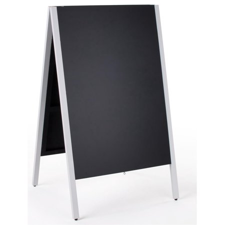 Displays2go 24 X 36 Chalkboard Sidewalk Sign Double Sided Wooden A