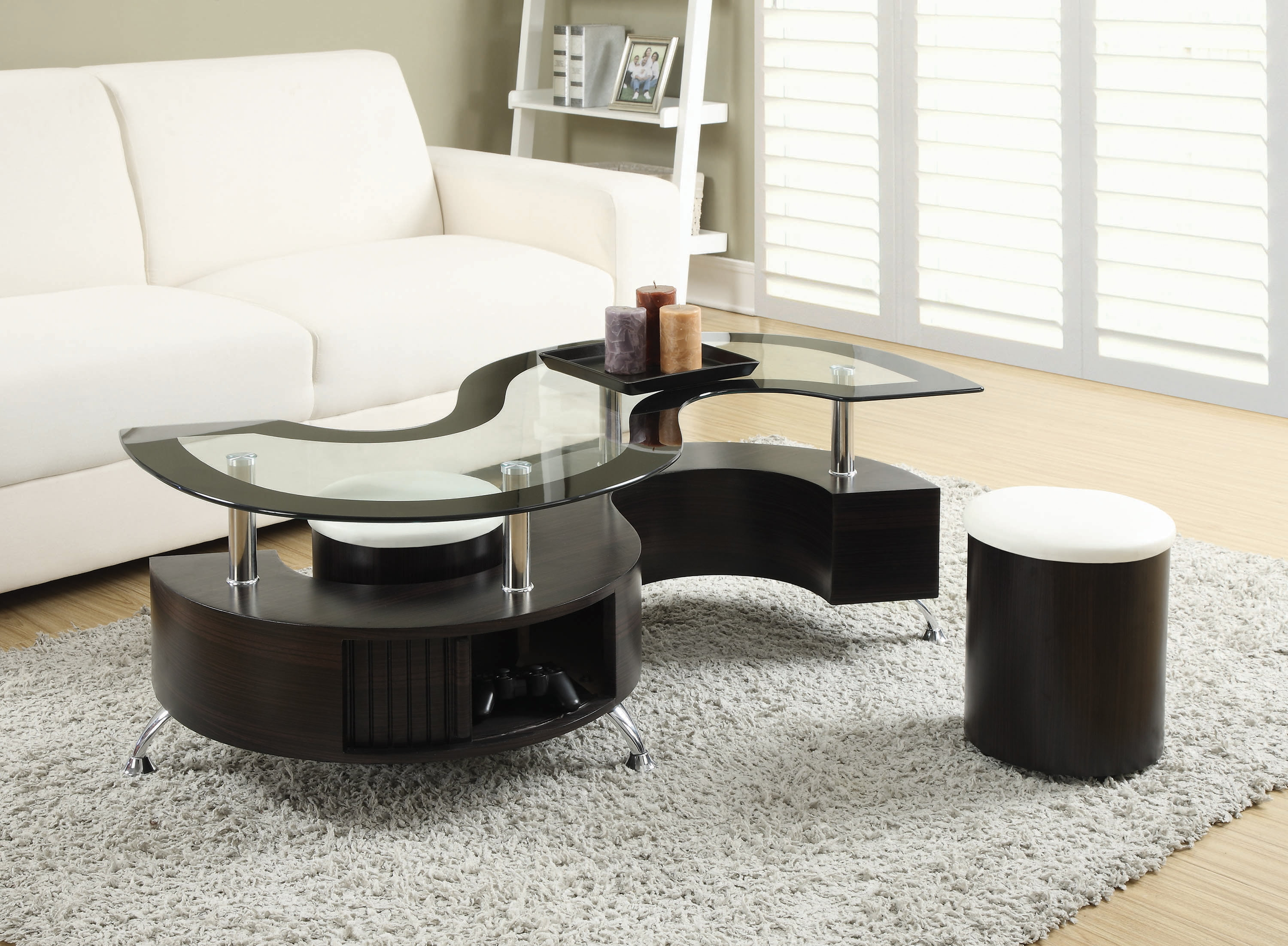 3 Piece Coffee Table And Stools Set Cappuccino Walmart Com Walmart Com
