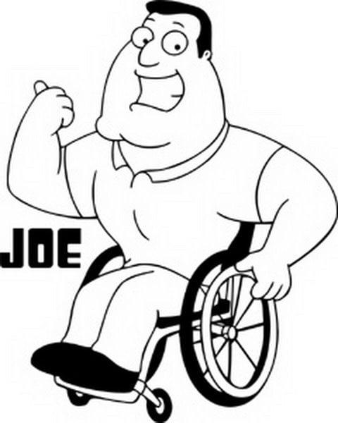 family guy joe window decal sticker s fg 0041 r walmart Spark Plug Gap