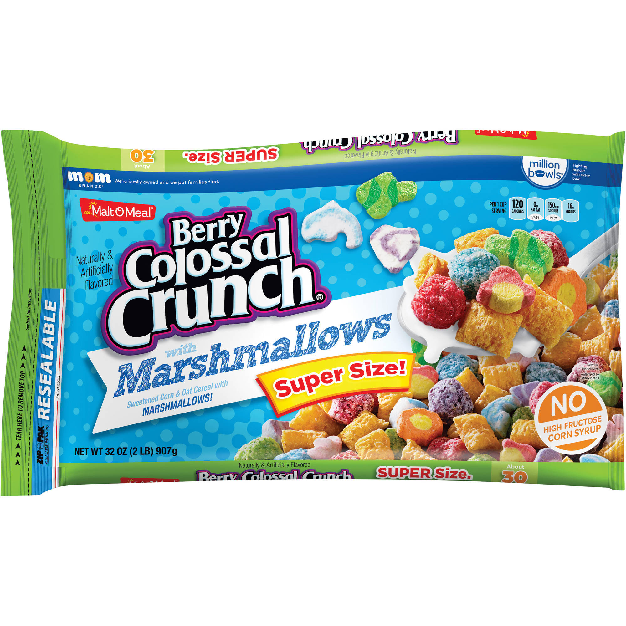 Malt-O-Meal Berry Colossal Crunch with Marshmallows Cereal, 32 oz