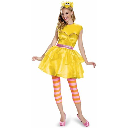 Sesame Street Big Bird Dress Women's Adult Halloween Costume](Adult Big Bird Costume)
