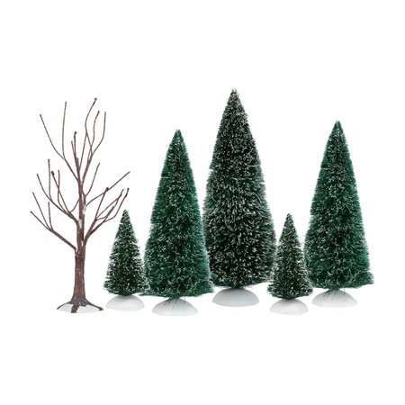 Department 56 Village Accessories 4035919 Holiday Landscape Set of 6 -