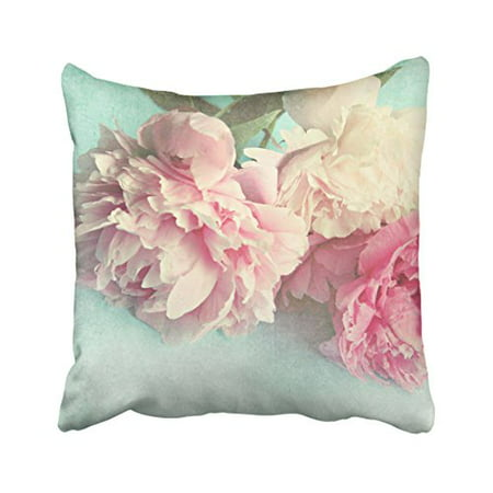 WinHome Decorative Wholesale Customized Flowers Ponies Shabby Chic Pink Floral Love Retro Style Zippered Throw Pillowcase Size 20x20 inches Two Side