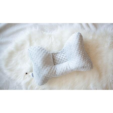 Zzz Pal Comfort Neck Pillow for Nursing, Travel, Relaxing - Grey Dot