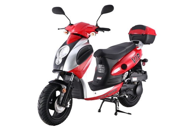 TAOTAO Powermax 150cc Moped Scooter with Sports Style, Hand Brake, Electric Kick Start, Rear Trunk by