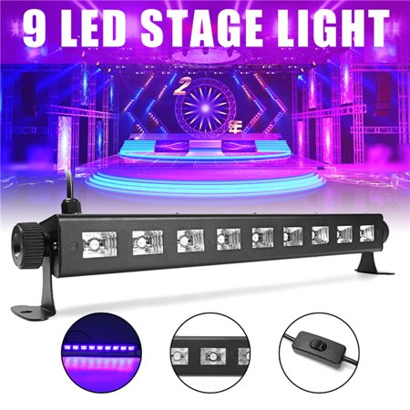 120° Beam angle UV 9 * 3W LED Bar Stage Light Bar Auto Control LED Wall Wash Lighting Black Light for Disco DJ KTV Club Party Wedding Christmas Plays Events and Gallery (Best Black Lights For Parties)