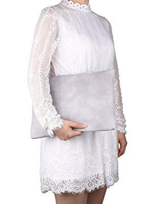 Aladin Oversized Clutch Bag Purse Women/'s Large leather Evening Wristlet Handbag