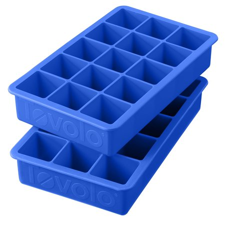Perfect Cube Ice Trays, Capri Blue - Set of 2, Each tray produces 15 perfect cubes; each equal to 1 ounce of liquid By