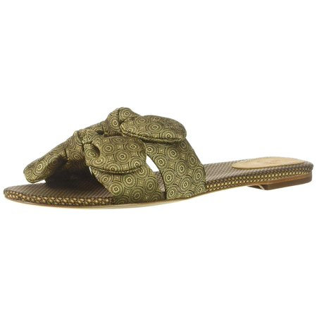 Bill Blass Women's Brianne Gold Multi Sandal -