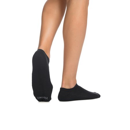 Hanes Men's Cushion No Show Socks, 12 Pack, 6-12, Black