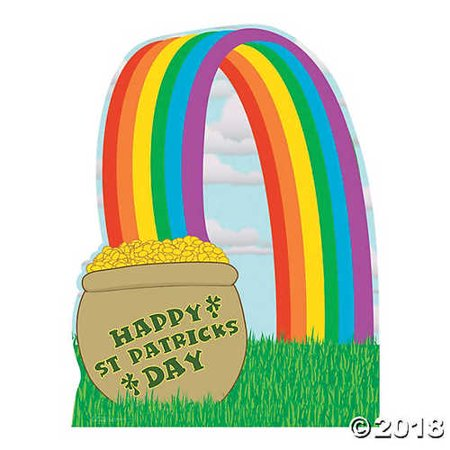 Pot of Gold with Rainbow Stand-Up - Rainbow Pot Of Gold