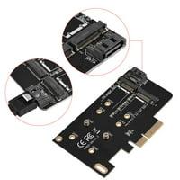 FAGINEY NGFF To PCI-E Adapter, M.2 To PCI-E Adapter Card,2 Ports NGFF M.2 B + M Key To PCI-E 4X 3.0 Adapter Card SSD To PCI Express