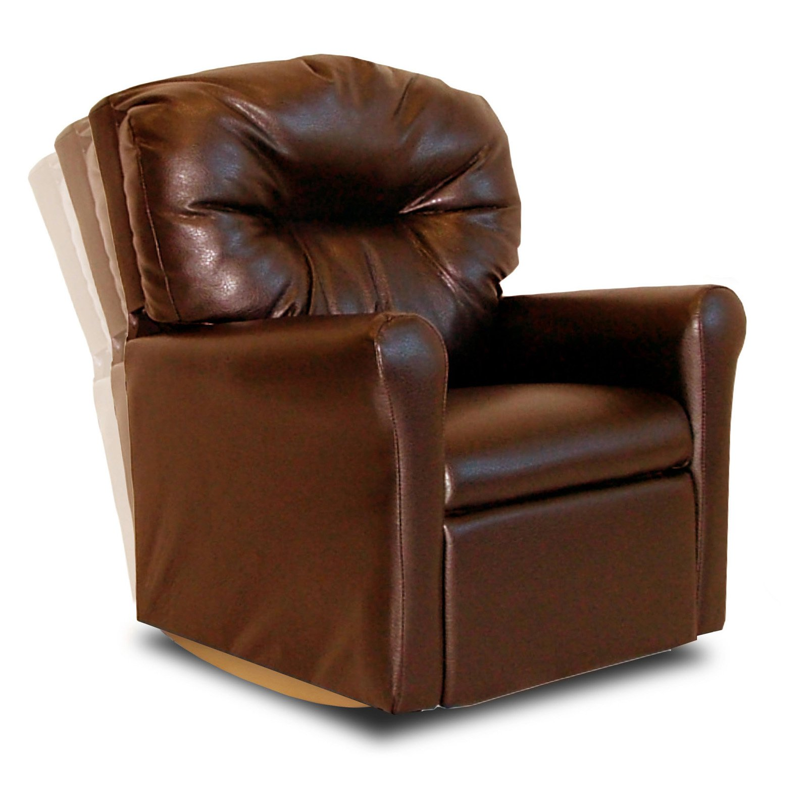 Dozydotes Contemporary Rocker Recliner - Pecan Brown