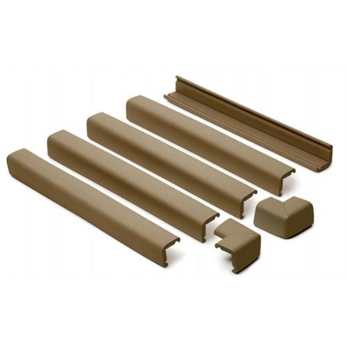 Prince Lionheart 0100 Fireplace Guard- 2 Corners Chocolate