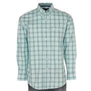 Wrangler Apparel Mens  George Strait Turquoise Plaid Shirt S Turquoise/Navy