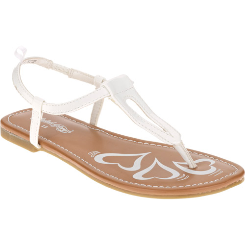 Faded Glory Girl's White Thong Sandal