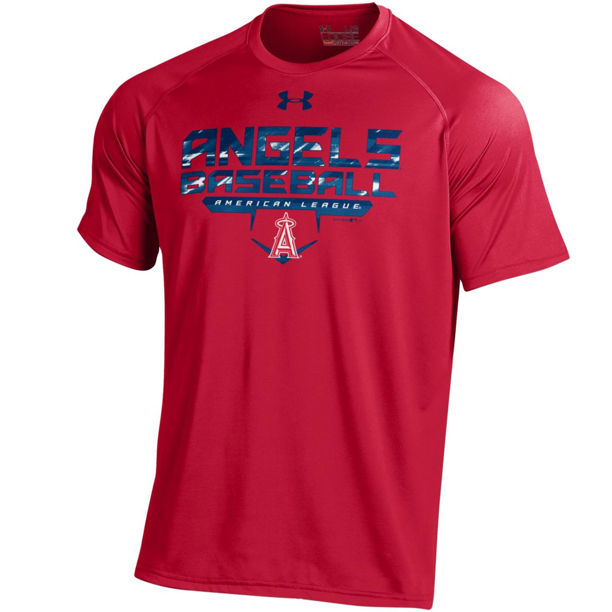 Men's Under Armour Red Los Angeles Angels Tech Performance T-Shirt