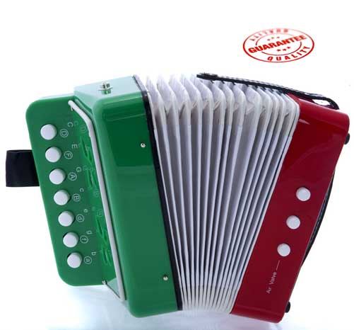 DLuca Child Button Accordion Mexican Flag by D'Luca