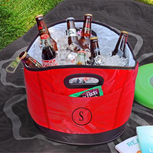 Personalized Red Party Cooler U
