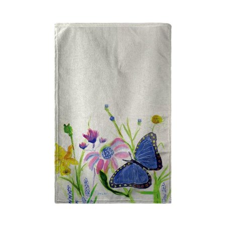 Betsy Drake BT349 30 x 50 in. Betsys Blue Morpho Beach Towel - image 1 de 1