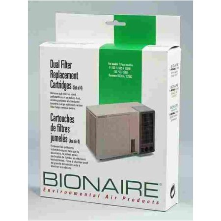 Bionaire 1511D HEPA Dual Filter Replacement Cartridges for F150, F150S, F150W, F155 and FE1560 (Package of 4)